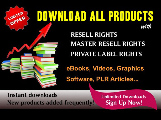 Master resell rights Products
